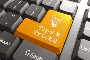 Tips & Tricks text on a keyboard enter button